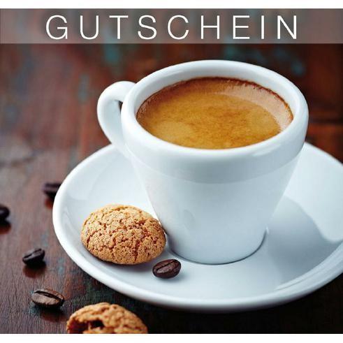 Gutschein-Klappkarte Espresso
