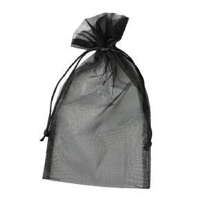 Organza Säckchen 17 x 24 cm - schwarz