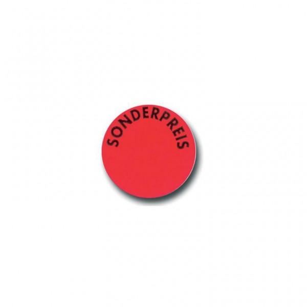 Etikett Sonderpreis leuchtrot - rund 31mm