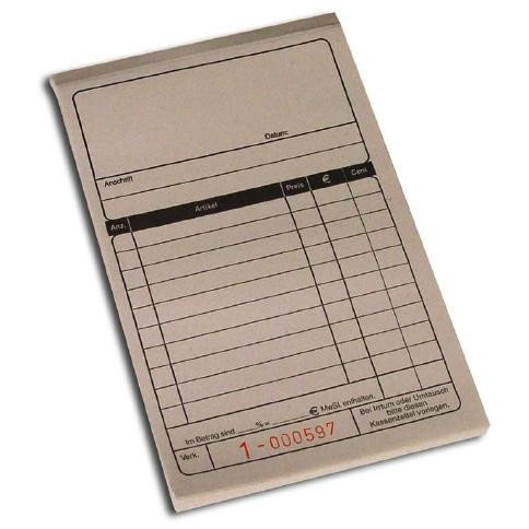 Duplikat - Kassenblock 10x15cm