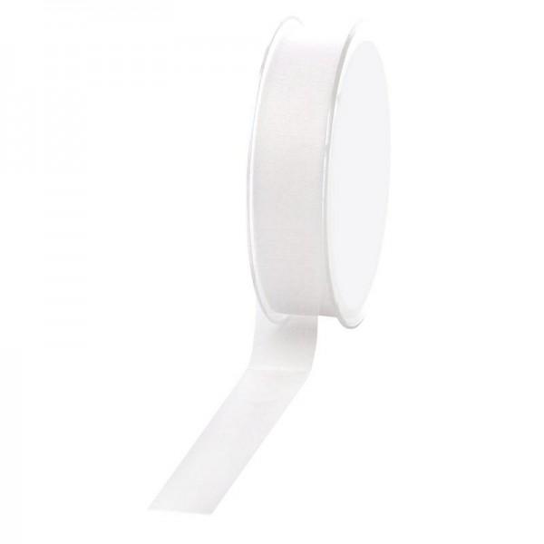 Geschenkband Chiffon 25mm/50Meter weiß