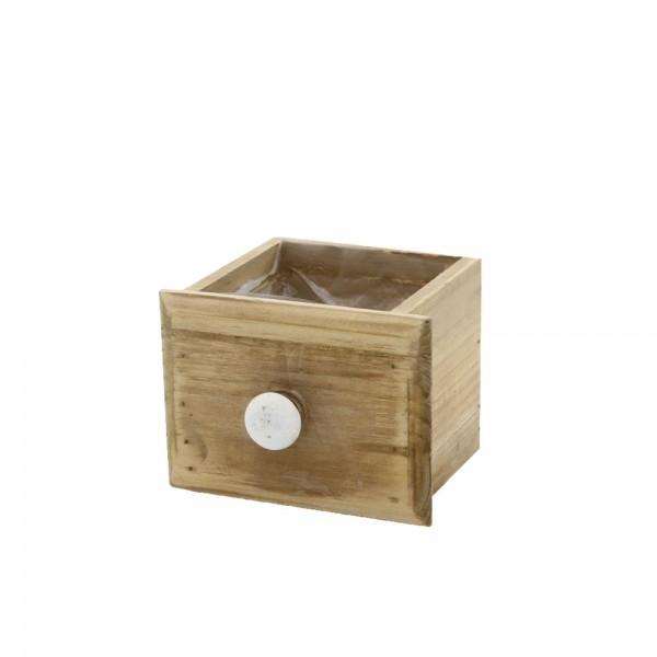 Holzschublade 12x10x8 cm Klara Braun