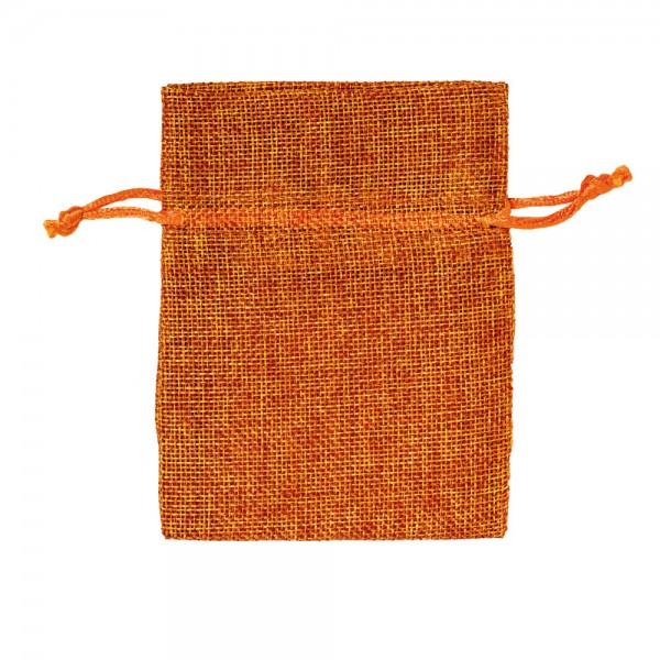 Säckchen in Leinenoptik 9 x 12 cm Orange