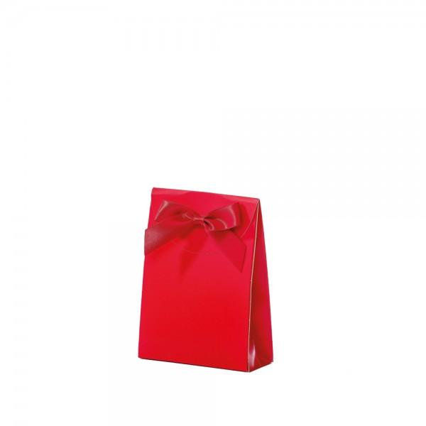 Geschenktasche 10x4x13,5+5cm rot