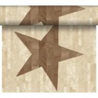 DUNI Tete-A-Tete Tischläufer Wood Star