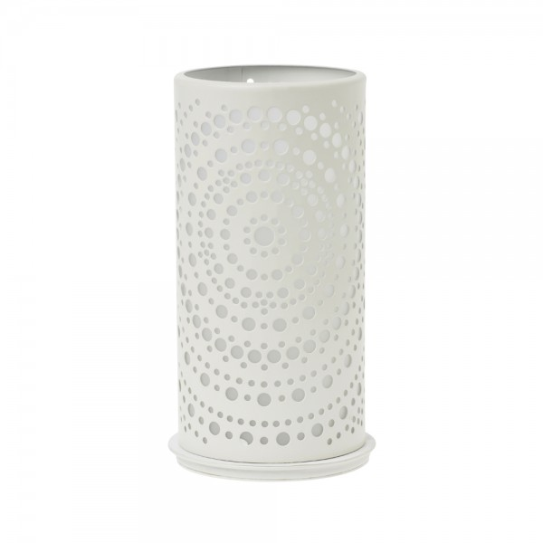 DUNI Kerzenhalter aus Metall 140 x 75 mm Billy weiß
