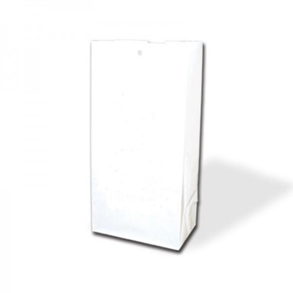 Blockbodenbeutel 12,5x8,5x26cm weiß