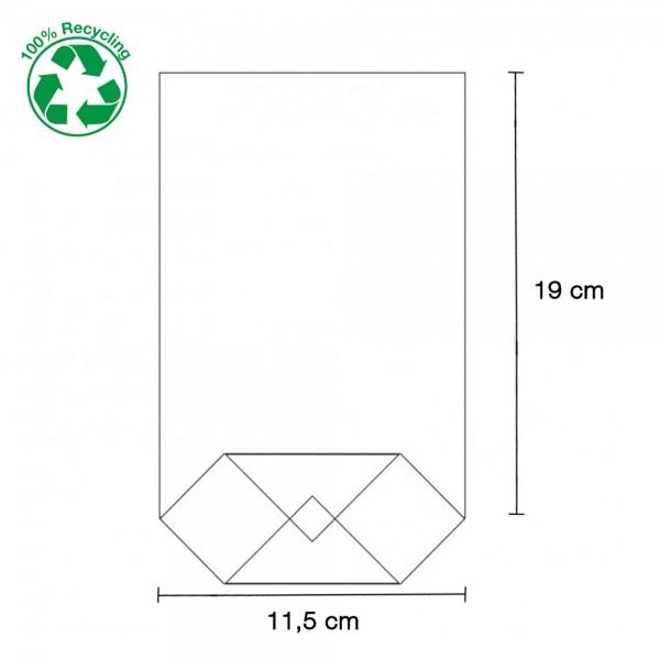 Zellglas Bodenbeutel 115x190mm