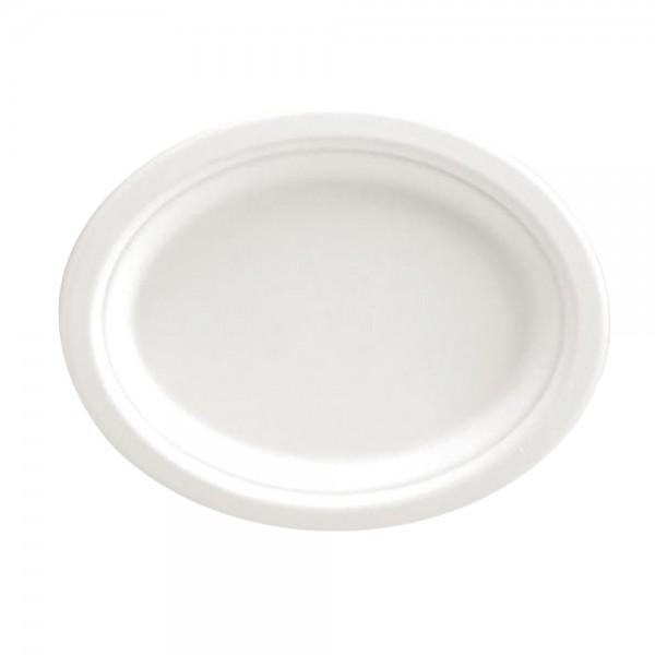 Teller Oval weiß 32 x 25,8 cm