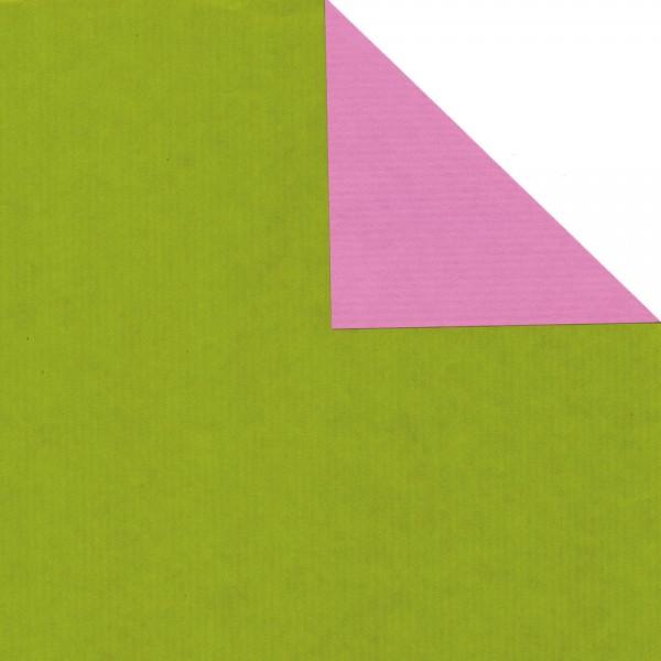 """Geschenkpapier Rolle 50cm 50Meter grün/flieder """"/"""