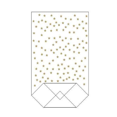 Klarsichtbodenbeutel PP Sterne gold 180x300mm