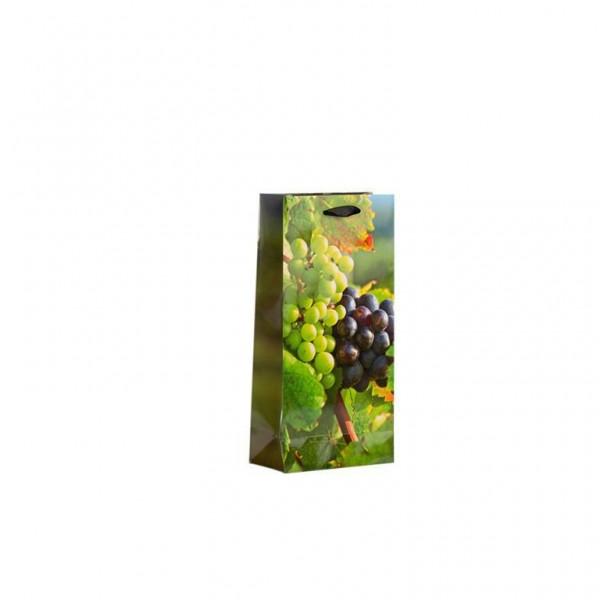 Flaschen Tragetasche Traube 18x9x37+5cm