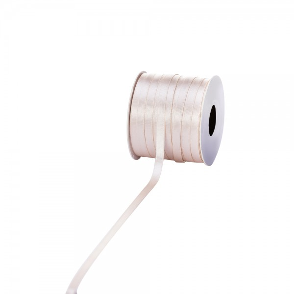 Satinband 6mm 100Meter creme