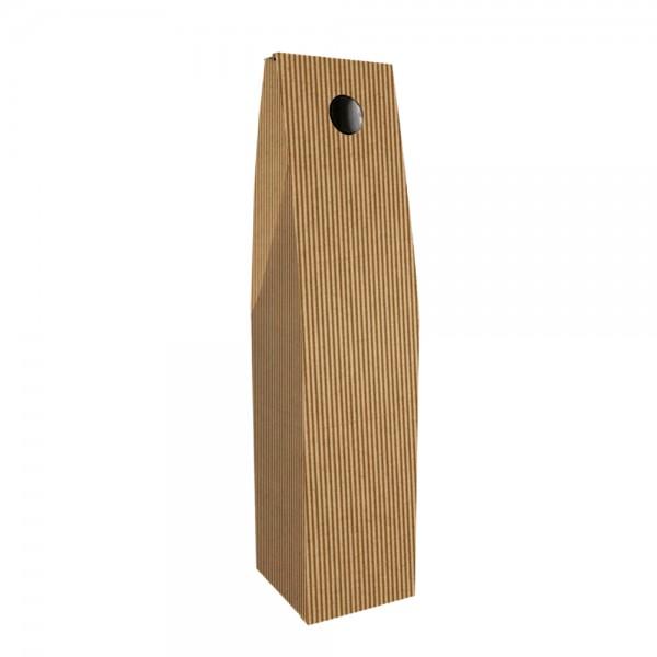 Flaschenkarton 1-er braun 9x9x34 cm