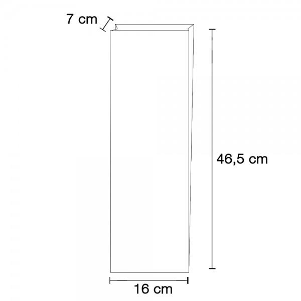 Stollenbeutel glasklar TYP 3 160x70x485mm
