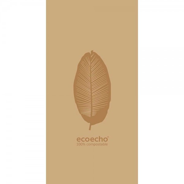 DUNI Zelltuch Serviette 40x40 cm 1/8F.Organic Braun