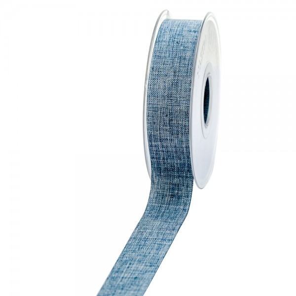 Geschenkband Leinenoptik 25mm 20Meter Jeansblau