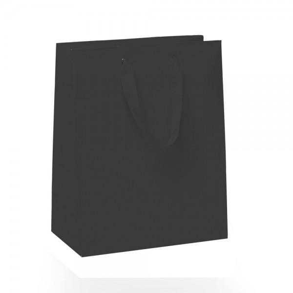 Kordel Tragetaschen 18x10x22,7+4cm schwarz
