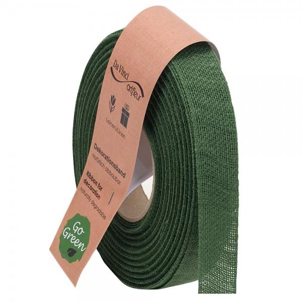 Leinenband biologisch abbaubar 25mm/20Meter Basic Grün