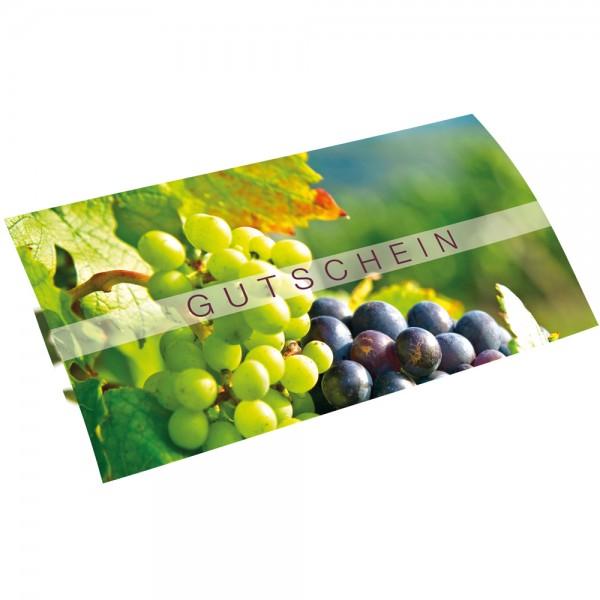 Gutschein-Klappkarte DIN lang Wein