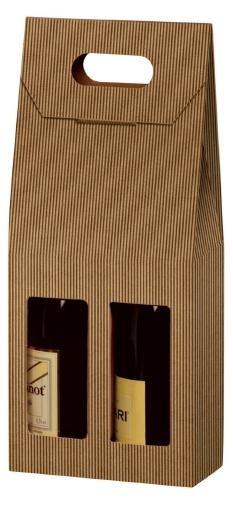 Flaschenkarton 2-er braun 18x9x41 cm