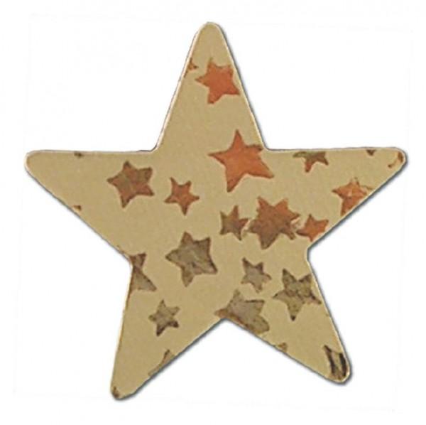 Weihnachts-Etikett Stern gold