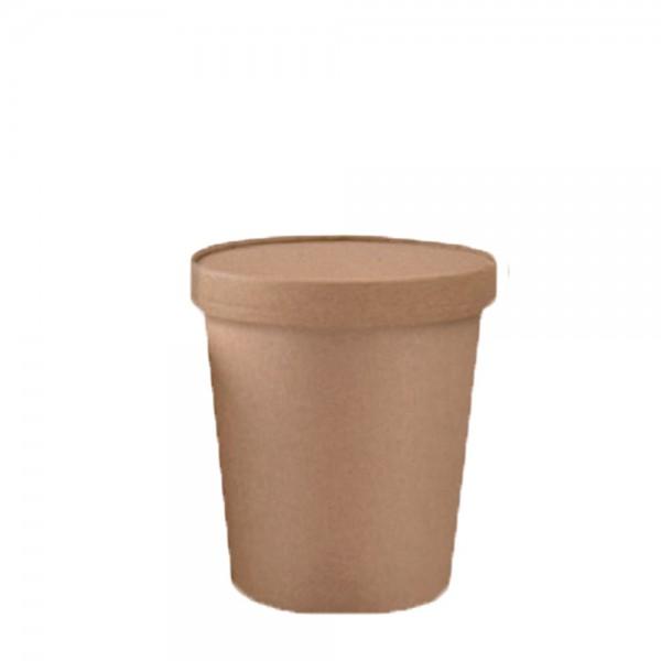 Soup to go - Verpackung mit Deckel 360 ml