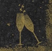 DUNI Dunisoft Serviette 40x40cm 1/4.Celebrate Black