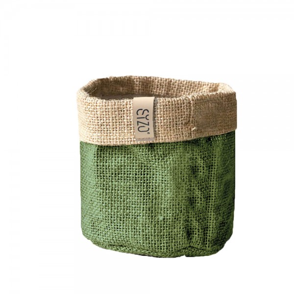 Jutebag Ø 20 cm Höhe ca.20 cm Olive