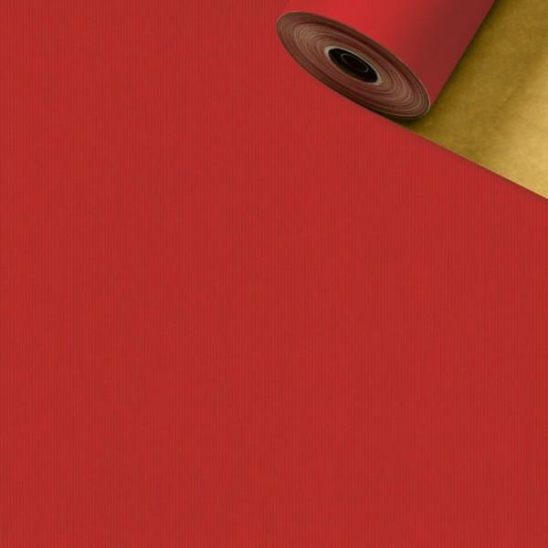 Geschenkpapier Rolle 70cm 250Meter rot/gold