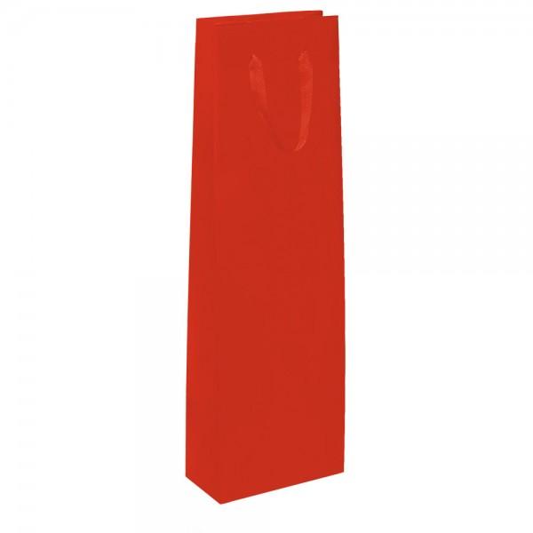 Flaschen Tragetaschen 9x9x38+5cm rot