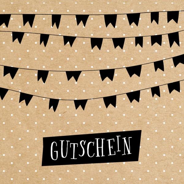 Gutschein-Klappkarte Flags Nature