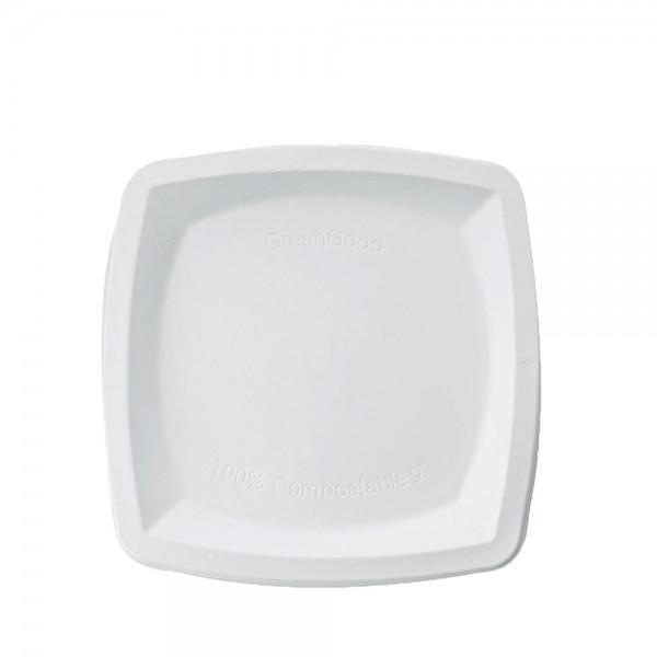 Teller quadratisch weiß 20 x 20 cm