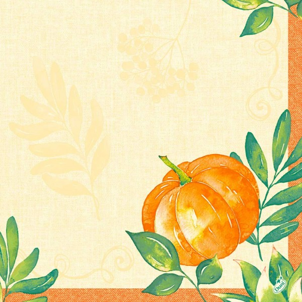 DUNI Dunisoft Serviette 40x40 cm 1/4F.Pumpkin Spice