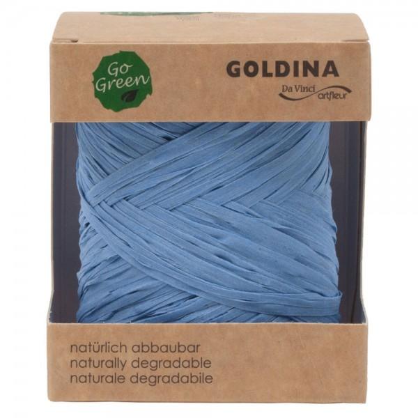 Raffia Band biologisch abbaubar 10mm/50Meter Blau