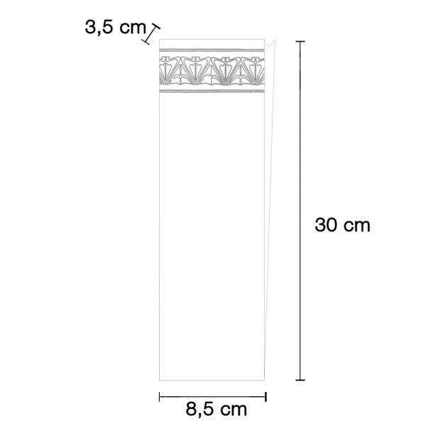 Gebäckseitenfaltenbeutel Nr.11 85x35x300mm