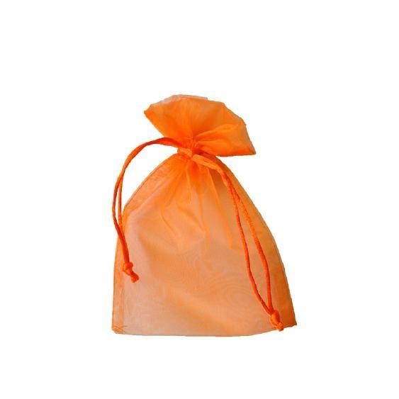 Organza Säckchen 12 x 17 cm - orange