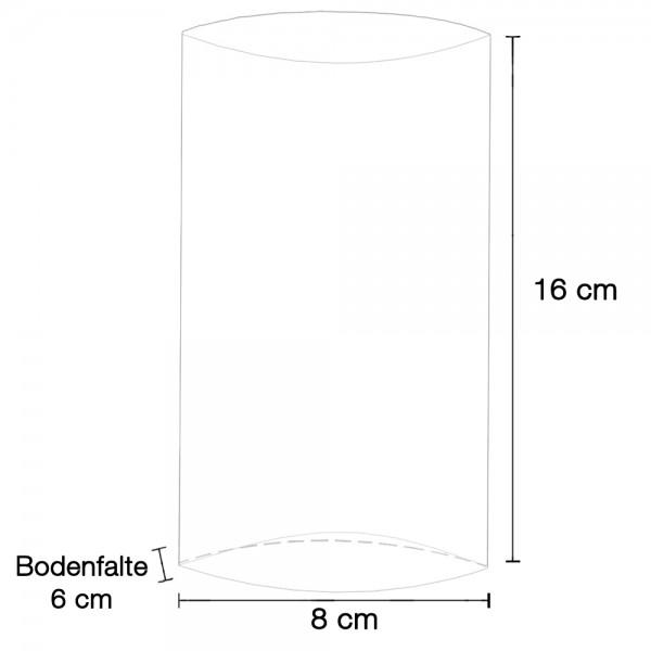 Klarsicht - Bodenfaltenbeutel ohne Druck