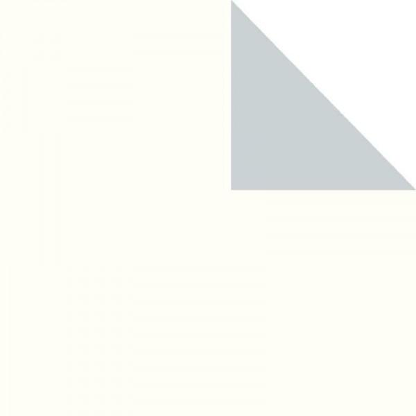 Geschenkpapier Rolle 50cm 50Meter 2-seitig weiß/silber