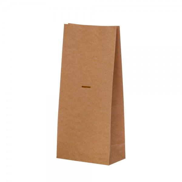Blockbodenbeutel Uni braun 12x6,5x26cm