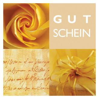 Gutschein-Klappkarte Rose gelb