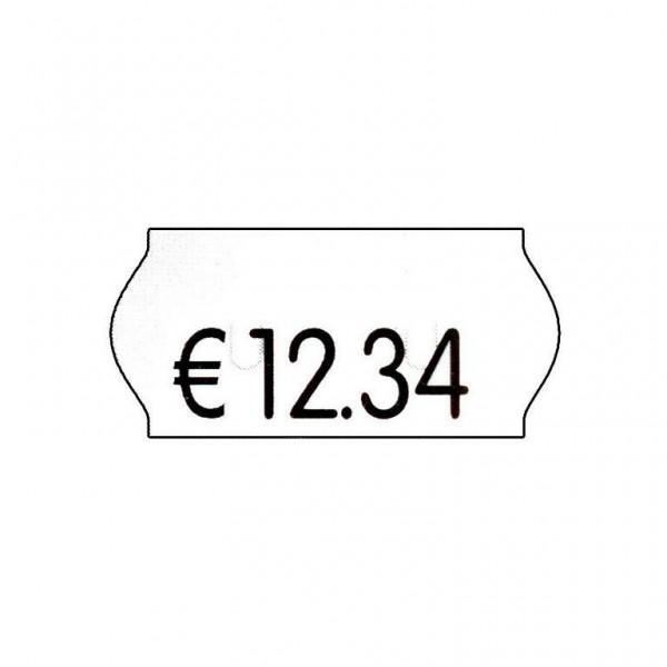 Geräte-Etiketten für S 26 26x12mm weiß