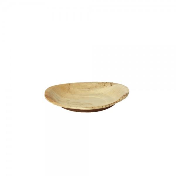 Teller rund aus Palmblatt Ø 18 cm, 2,5 cm tief