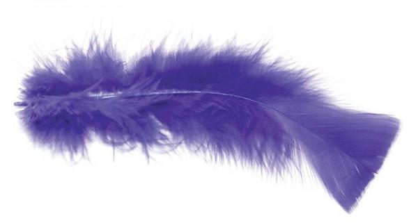 Deko Federn violett 100 g