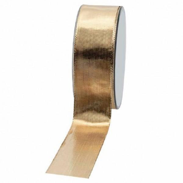Geschenkband glänzend 40mm 25Meter gold
