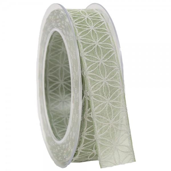Geschenkband 25mm/20 meter Rhodos pastellgrün