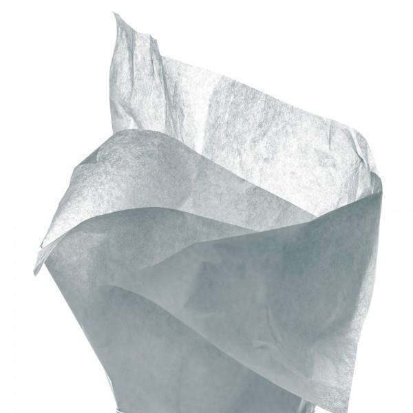 Seidenpapier Bogen 50x70 cm silber