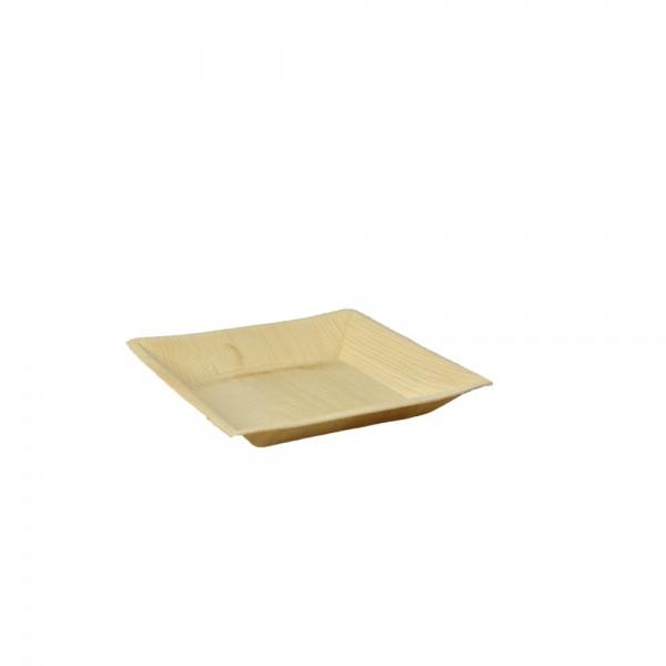 Teller quadratisch aus Palmblatt 17 x 17 x 2,5 cm