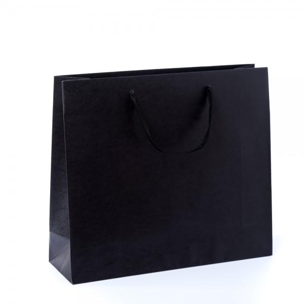 Tragetasche 42x13x37+6cm schwarz mit Chessband