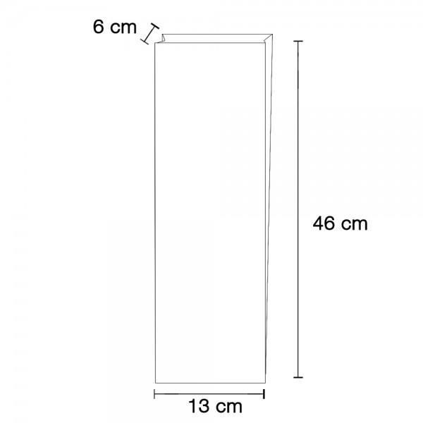 Stollenbeutel glasklar TYP 2 130x60x460mm